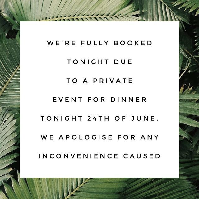 Our restaurant is closed to public for a private function tonight from 6 PM, our Oasis Terrace will still be open for drinks and Happy Hour. We apologise for any inconvenience caused.