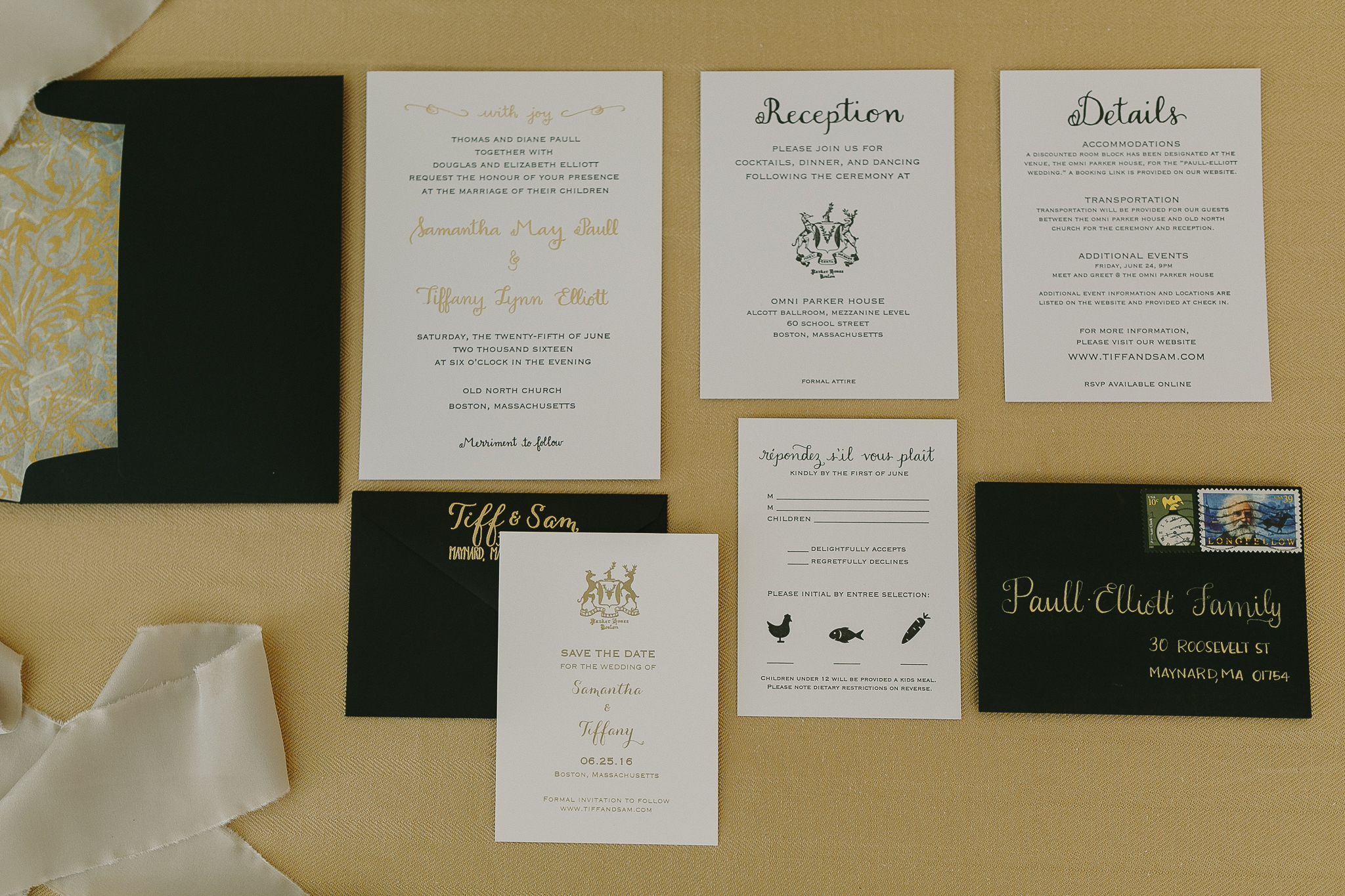 black tie wedding boston wedding invitation photo by siri jones
