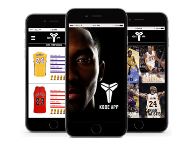 iOS Mobile App - Kobe Moments