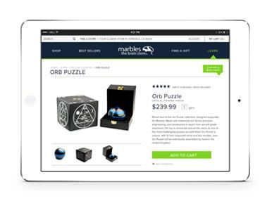 e-commerce website - Marbles