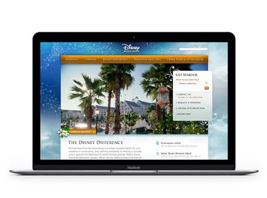 Website - Disney Meetings UX/UI