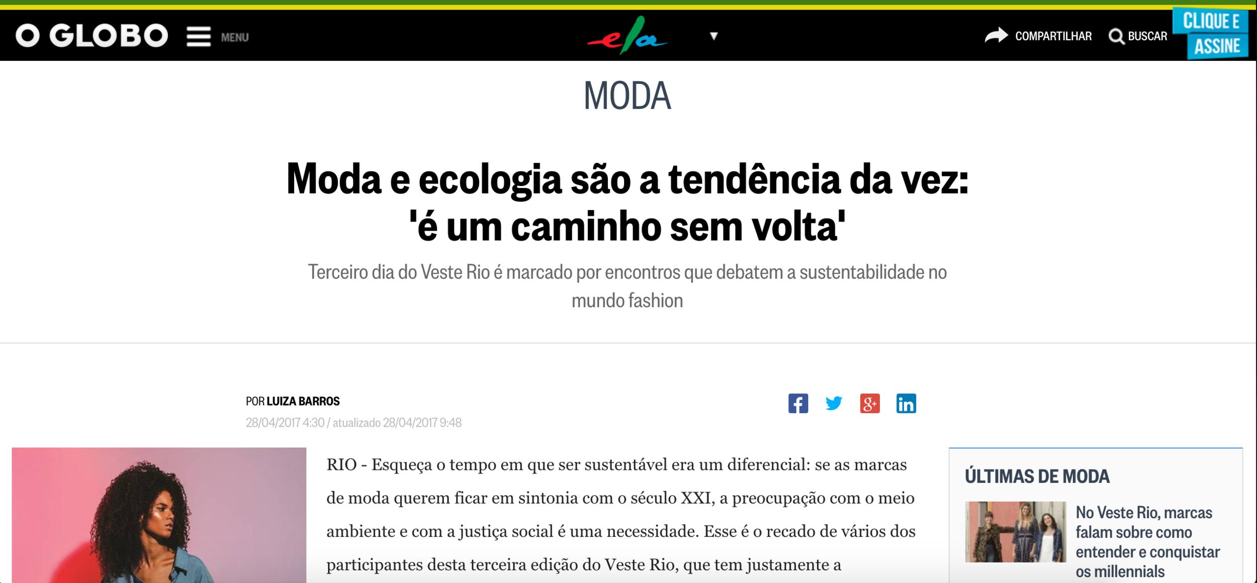 Caderno ELA | O Globo