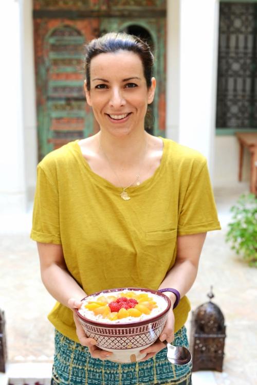 NAz serves up her bircher muesli in Morocco