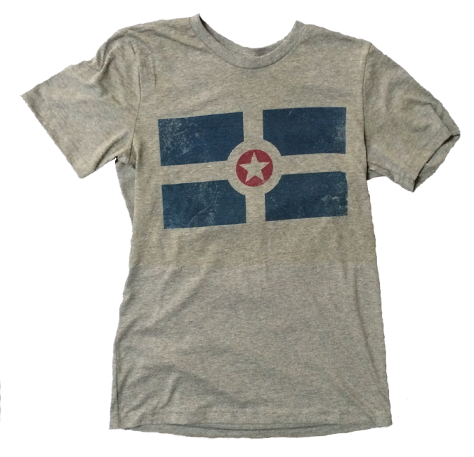 PUP Indianapolis City Flag Tee - Printed with water based ink
