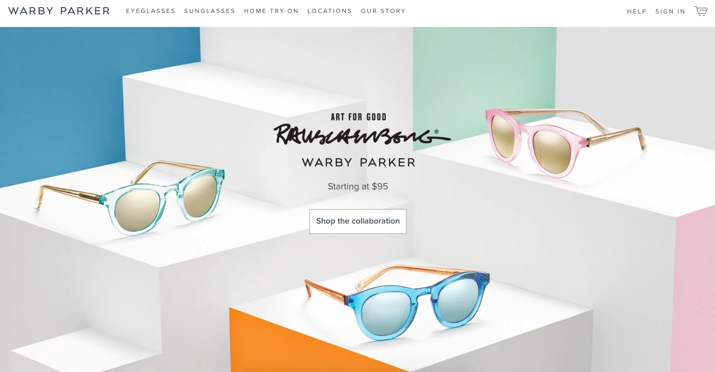 Warby Parker branding example