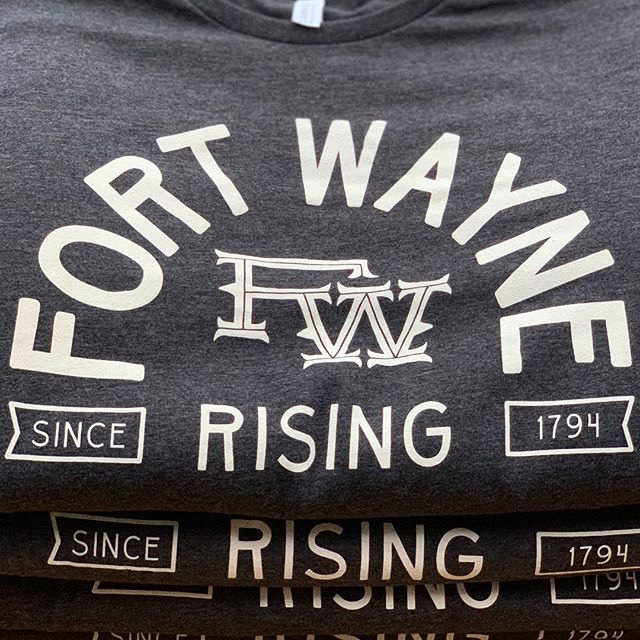 This design we just printed for our friends at @fortwaynerising is 🔥🔥🔥!