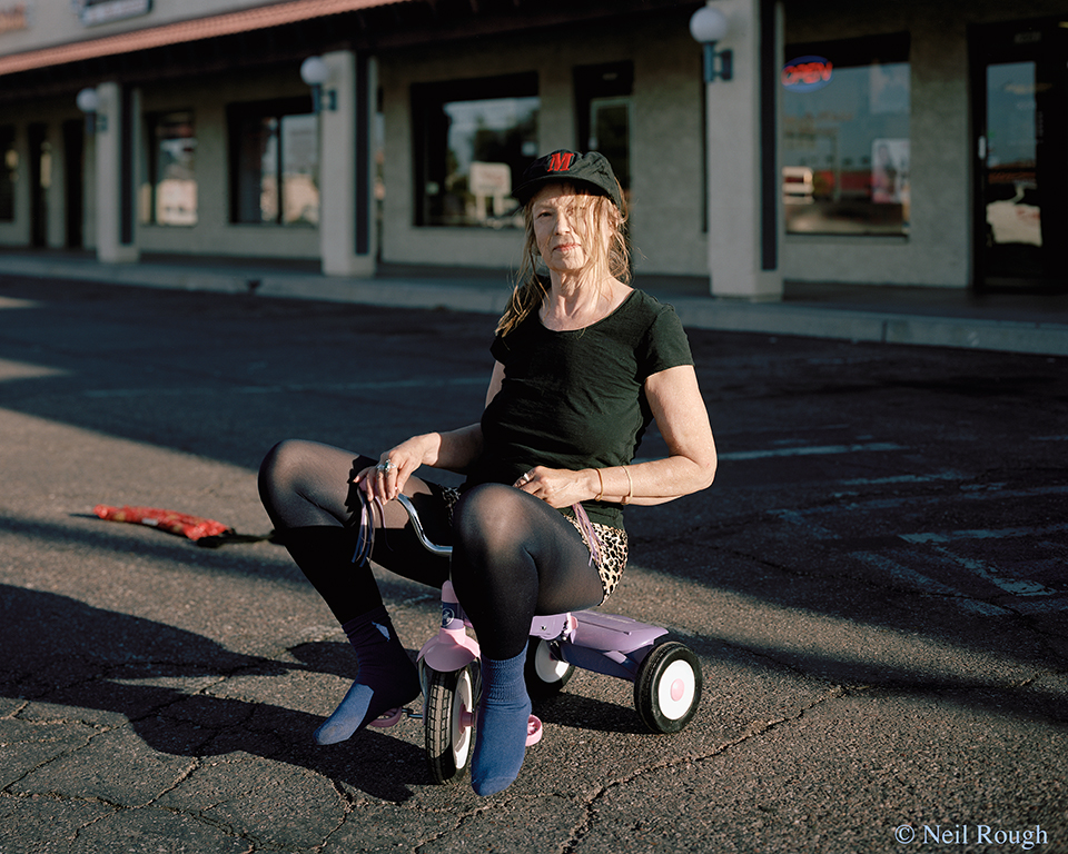 AZ Mesa Woman on Tricycle 2011.jpg