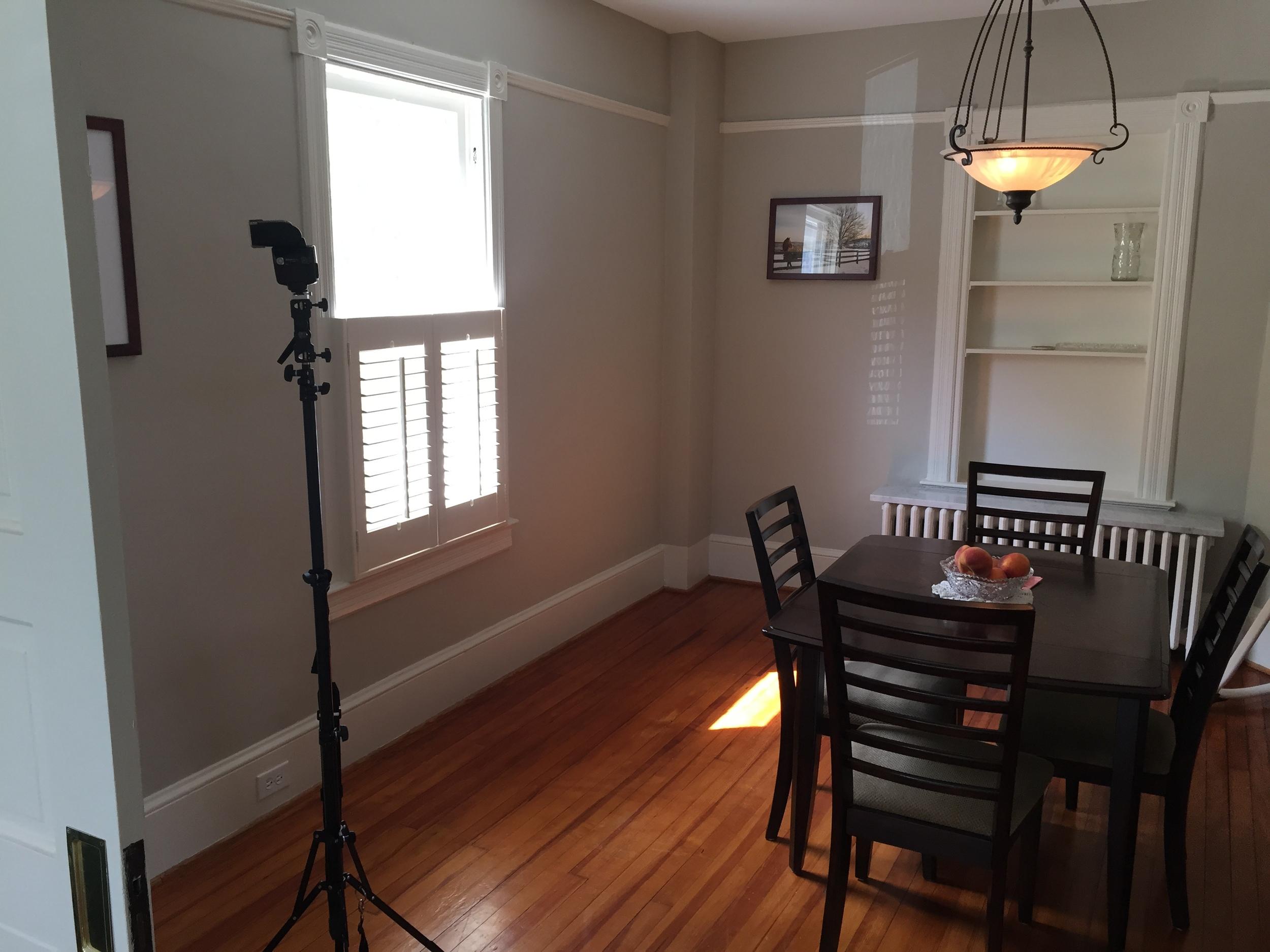 Main light for adjoining room.