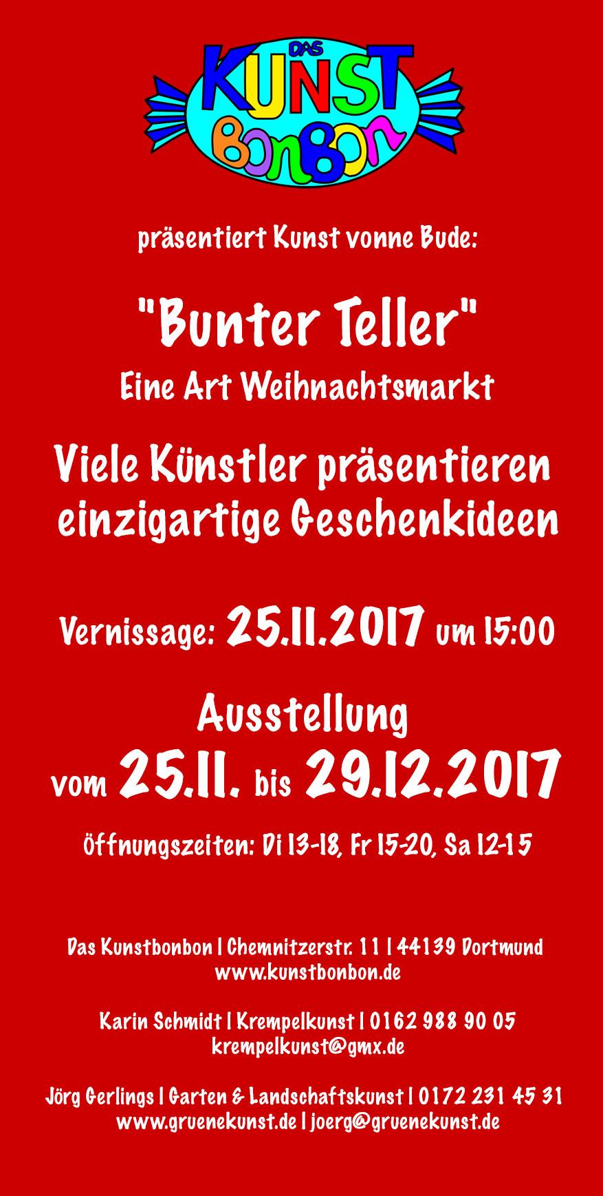 Der Flyer zum 'Bunten Teller'