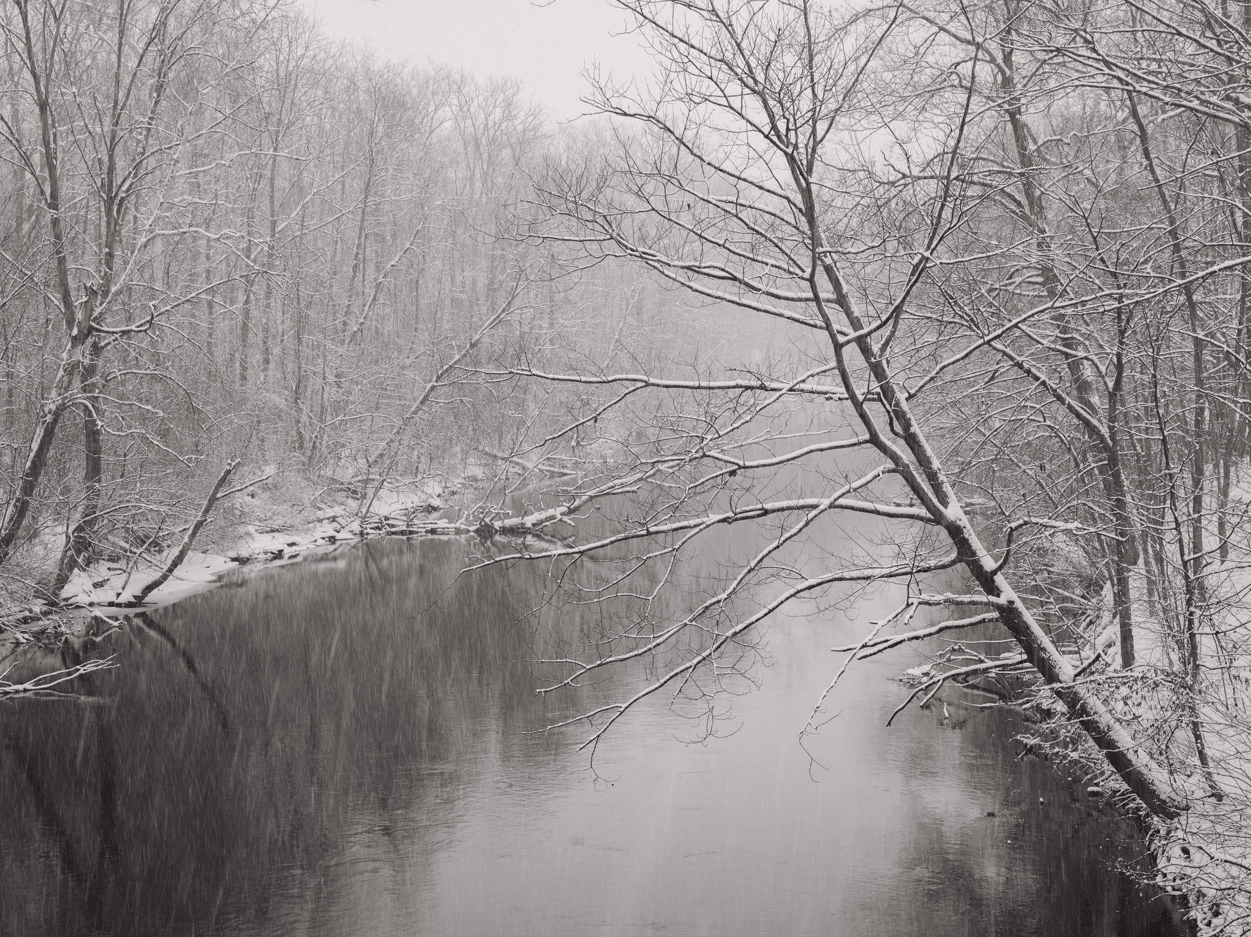 RIVER IN WINTER. On this wintry day I brought out my camera and took a drive down Haggerty into the lower Huron Metro Park looking for something beautiful to share. Michigan Landscape Photography.