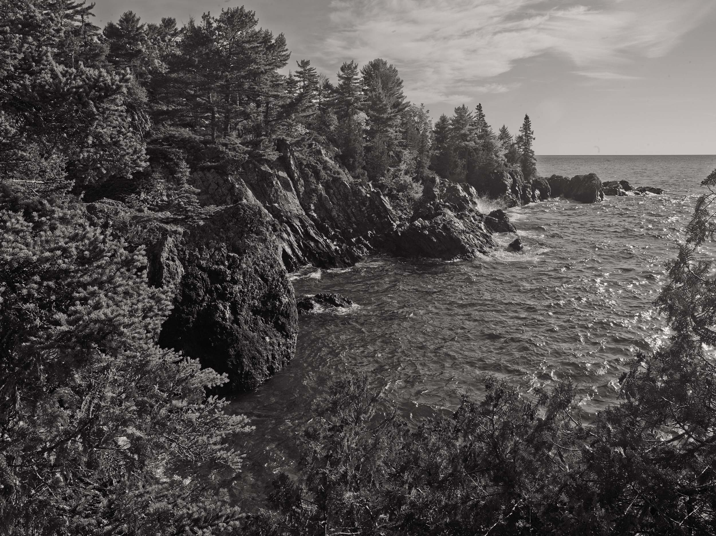 Copper Harbor. One of Michigan's most beautiful and remote spots. Fish Cove is at the tip of the Keweenaw Penninsula 15 miles down a jeep trail. It's secluded, rugged. Michigan Landscape Photography.
