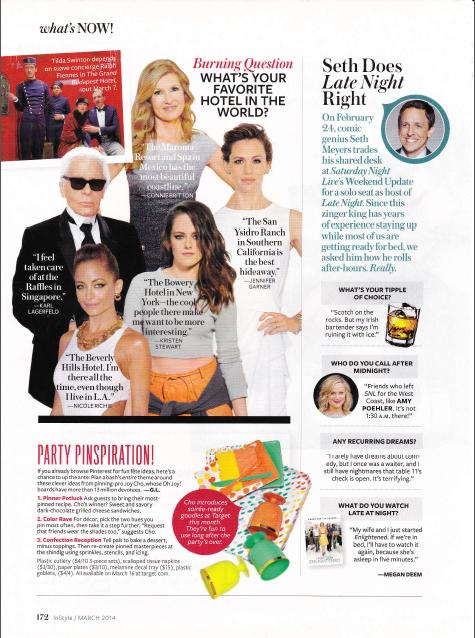 Seth Meyers InStyle Magazine