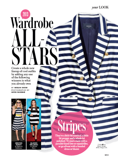 Wardrobe All Stars InStyle Magazine
