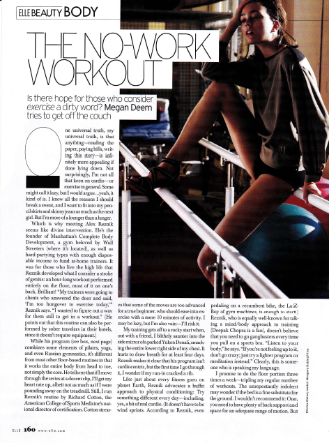 The No-Work Workout Elle Magazine