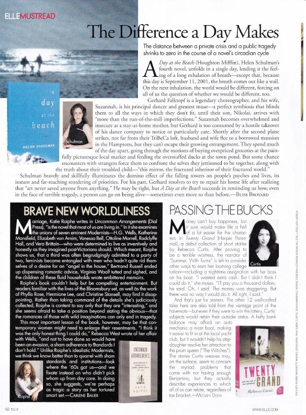 Elle Magazine Book Review Must Reads by Megan Deem