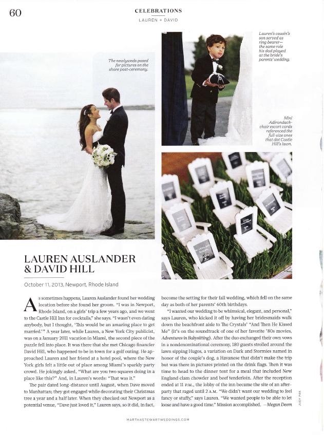 Martha Stewart Weddings - Newport, Rhode Island by Megan Deem