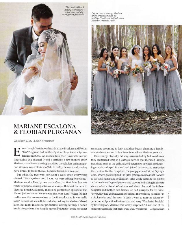 Martha Stewart Weddings - San Francisco by Megan Deem