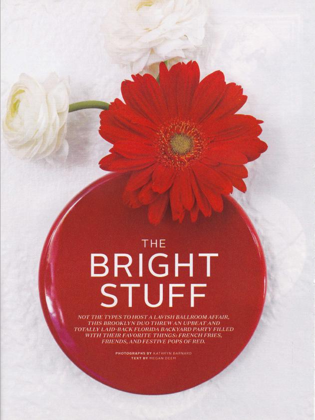 Martha Stewart Weddings - The Bright Stuff by Megan Deem
