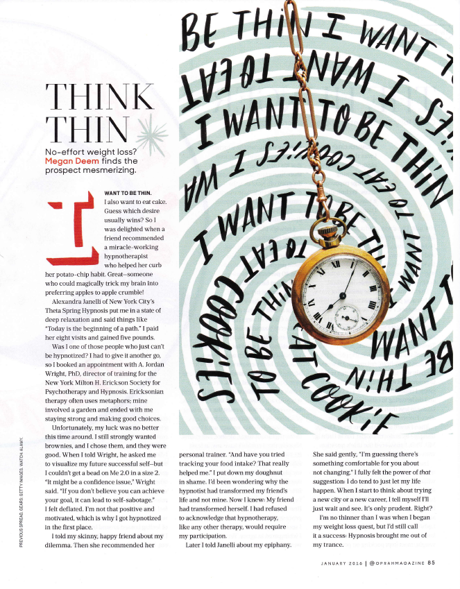 Oprah Magazine Think Thin by Megan Deem