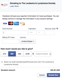 A look at the future of fundraising thanks to facebook.