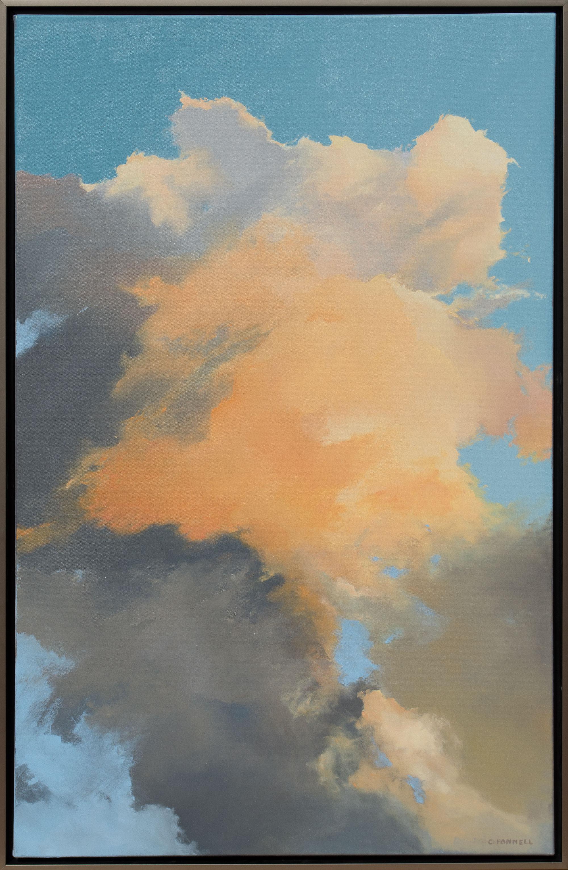 "Flaming Spire 50 x 32"" framed $ 5,800."