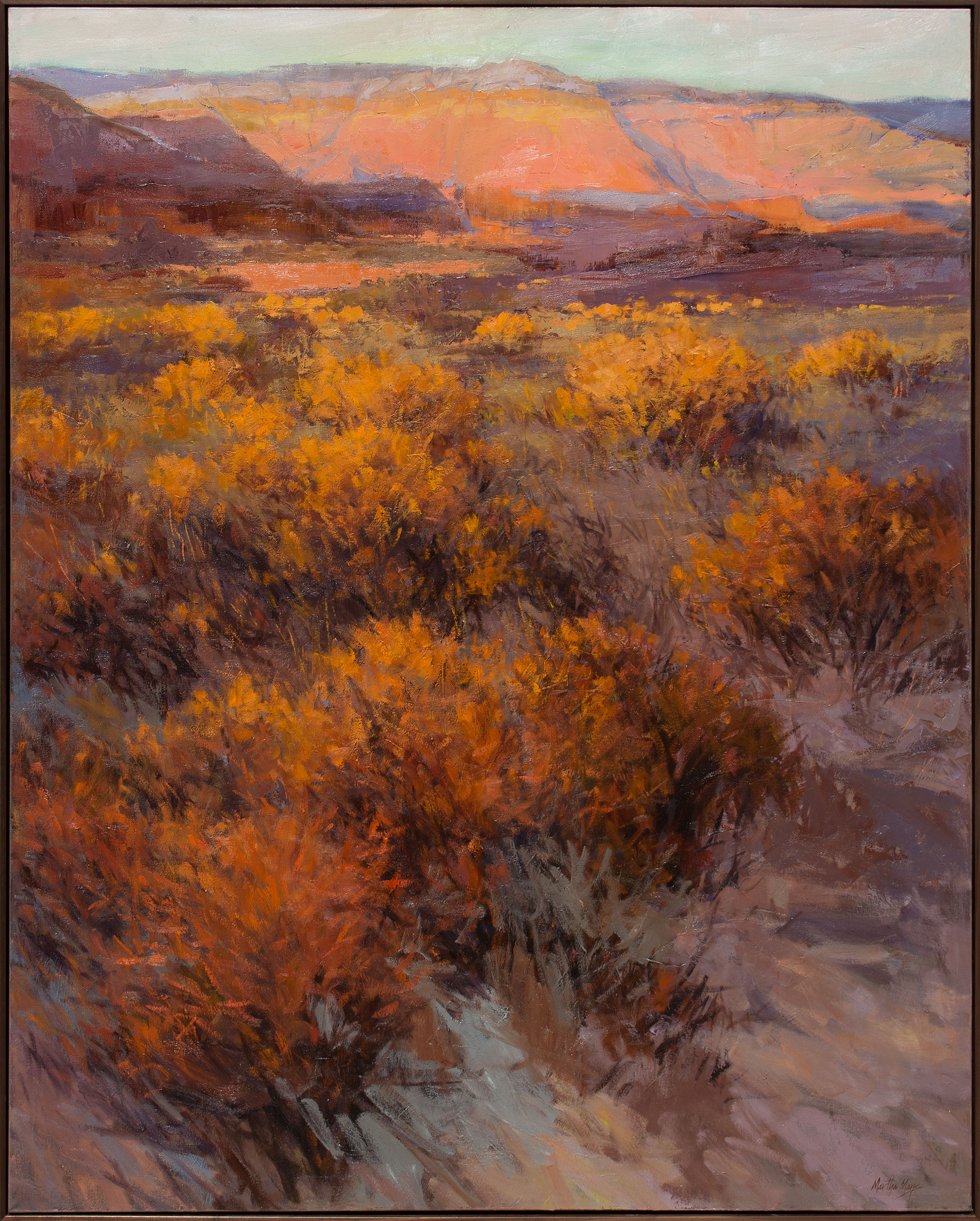"New Mexico Twilight  61 x 49"" framed $ 9,400."