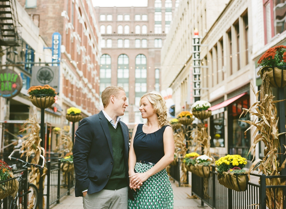 Downtown Cleveland Engagement Photographer