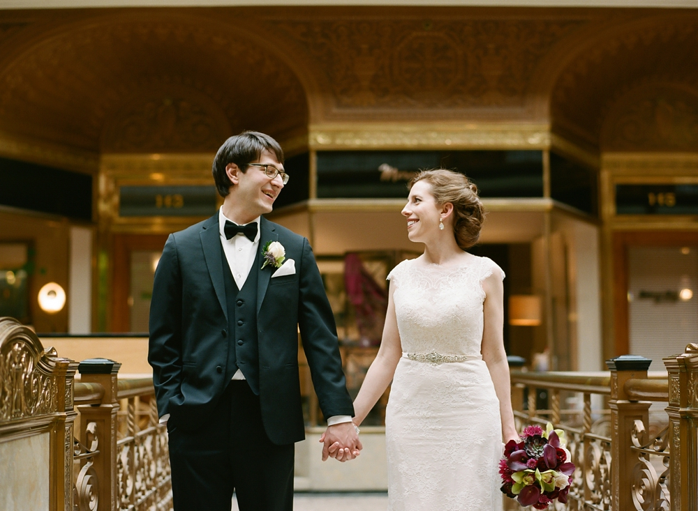 The Arcade Cleveland Wedding Photos