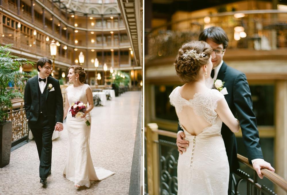 Wedding Portraits at The Arcade Cleveland