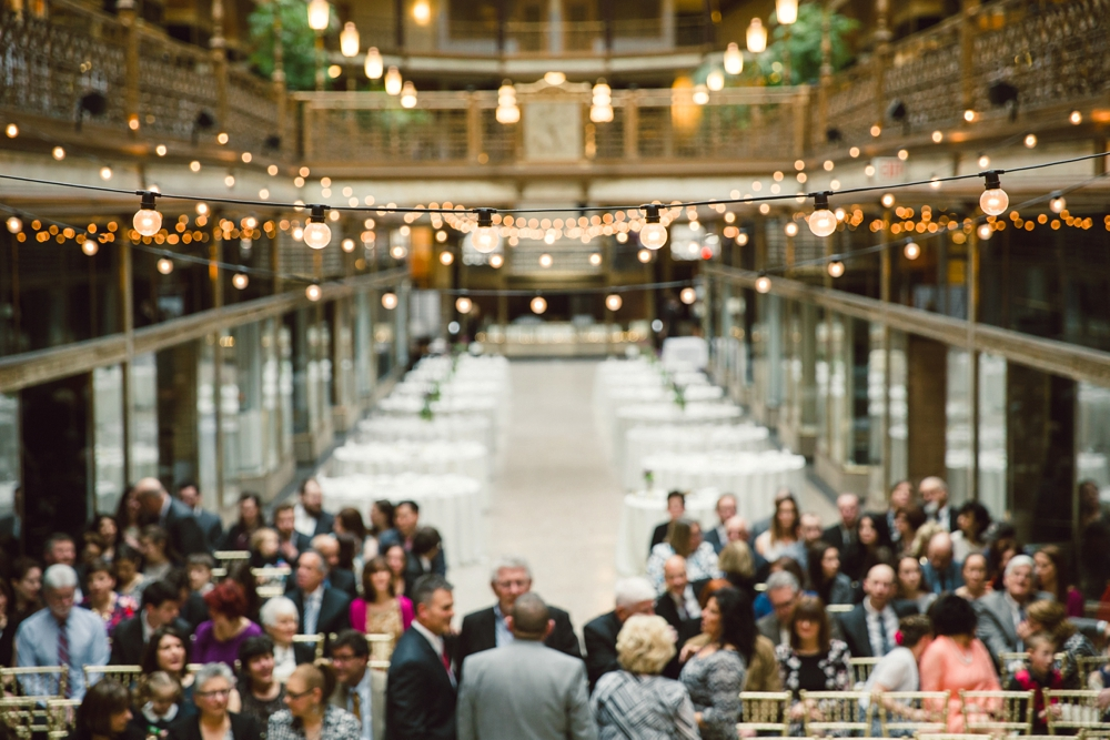 Wedding Ceremony at The Arcade Cleveland