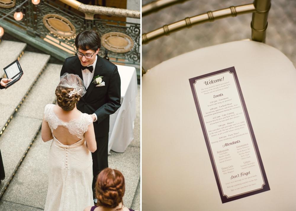 Wedding Ceremony at The Arcade Cleveland
