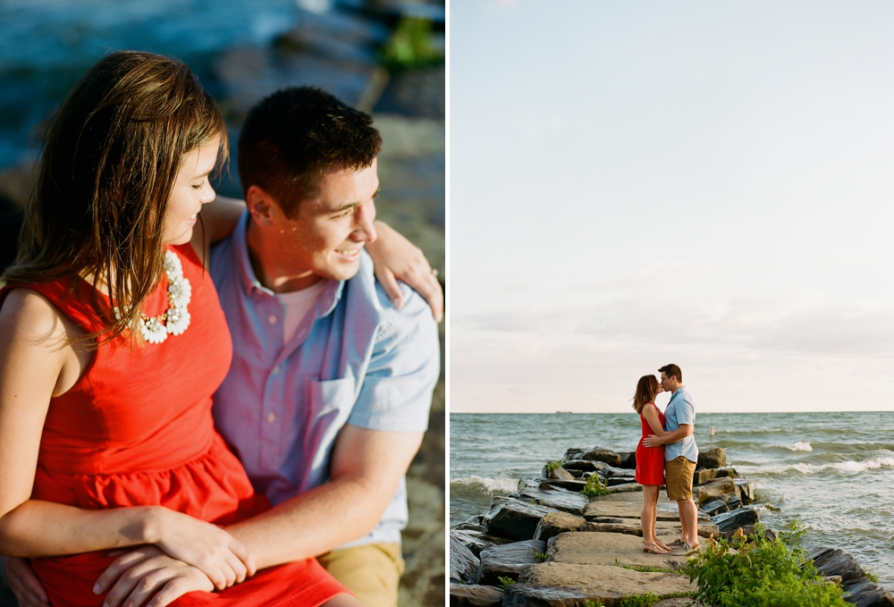 Cleveland Lake Erie Sunrise Engagement