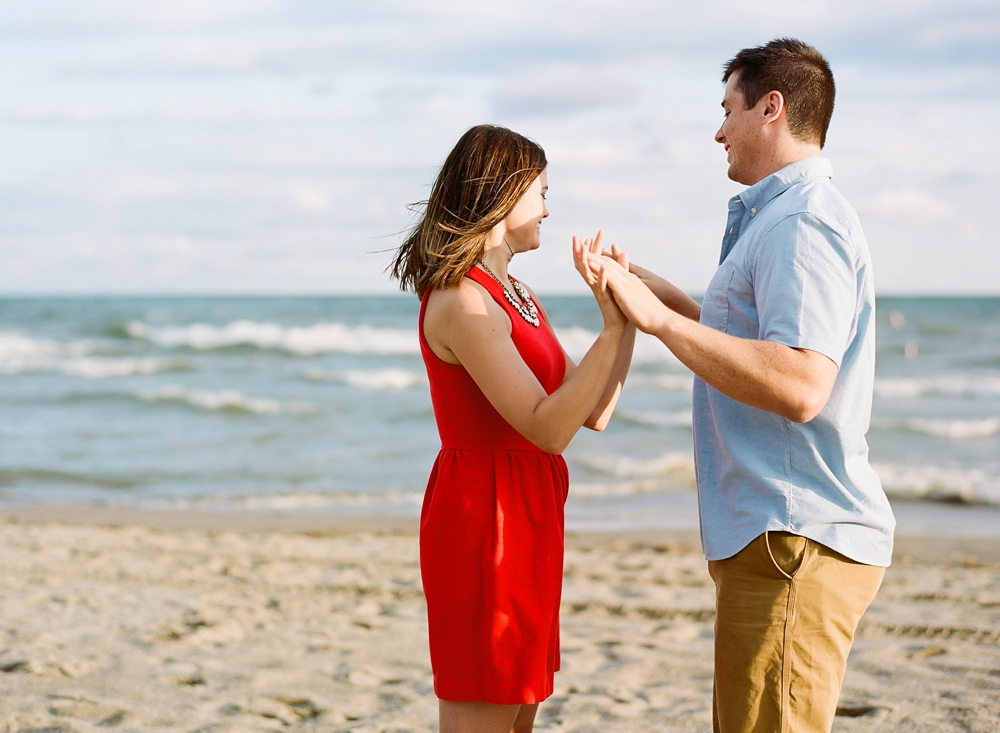 Edgewater Beach Cleveland Engagement Photos