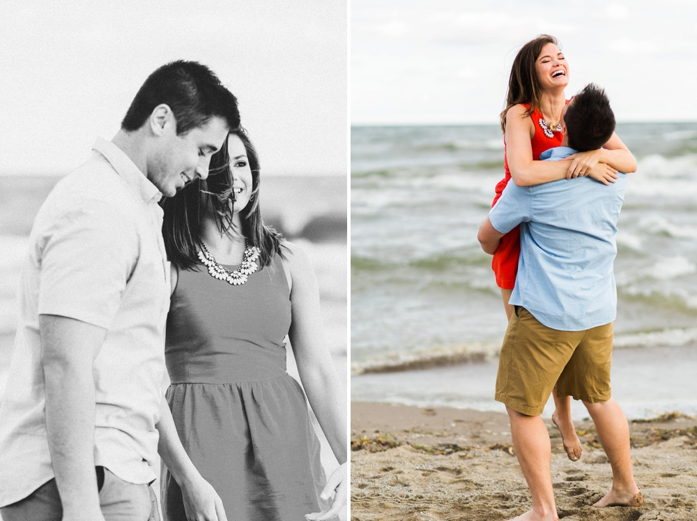 Cleveland Sunrise Beach Engagement Photos