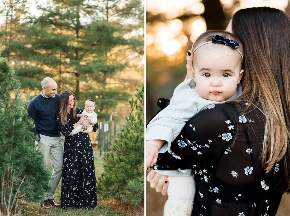 Cleveland Christmas Tree Farm Family Photos