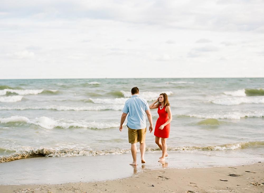 Lake Erie Ohio Engagement Photos