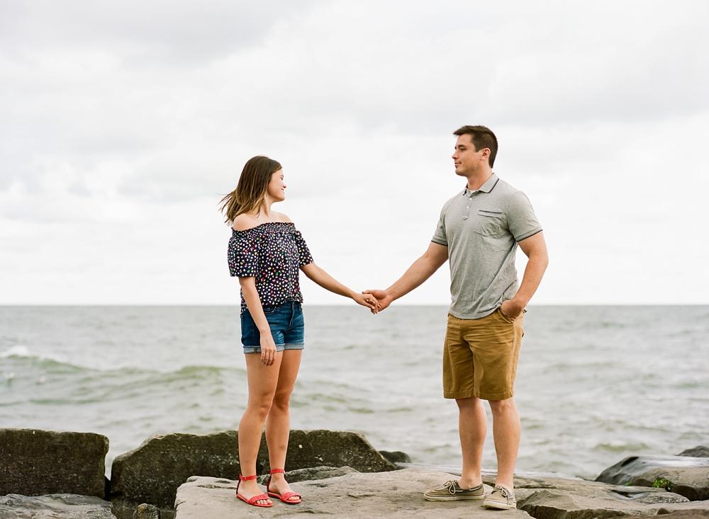Cleveland Ohio Engagement Photos on Film