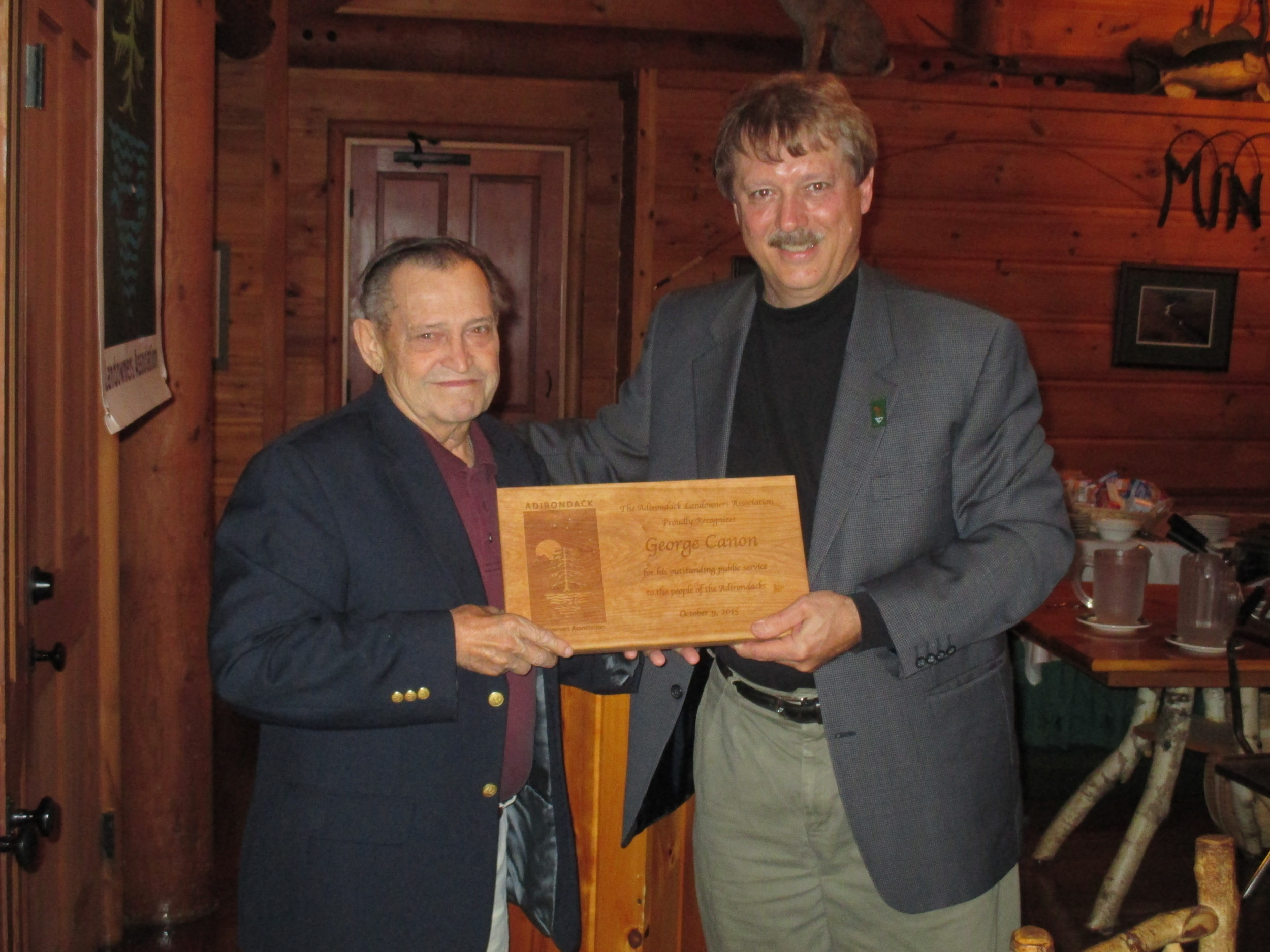 Town of Newcomb Supervisor, George Canon receives a special tribute from the ALA in recognition of his retirement.