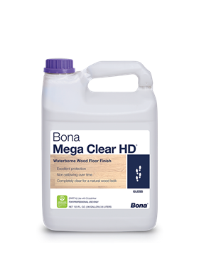 Bona Mega Clear HD Water Based Polyurethane - 100% non-yellowing, quick drying, low odor/fumes!