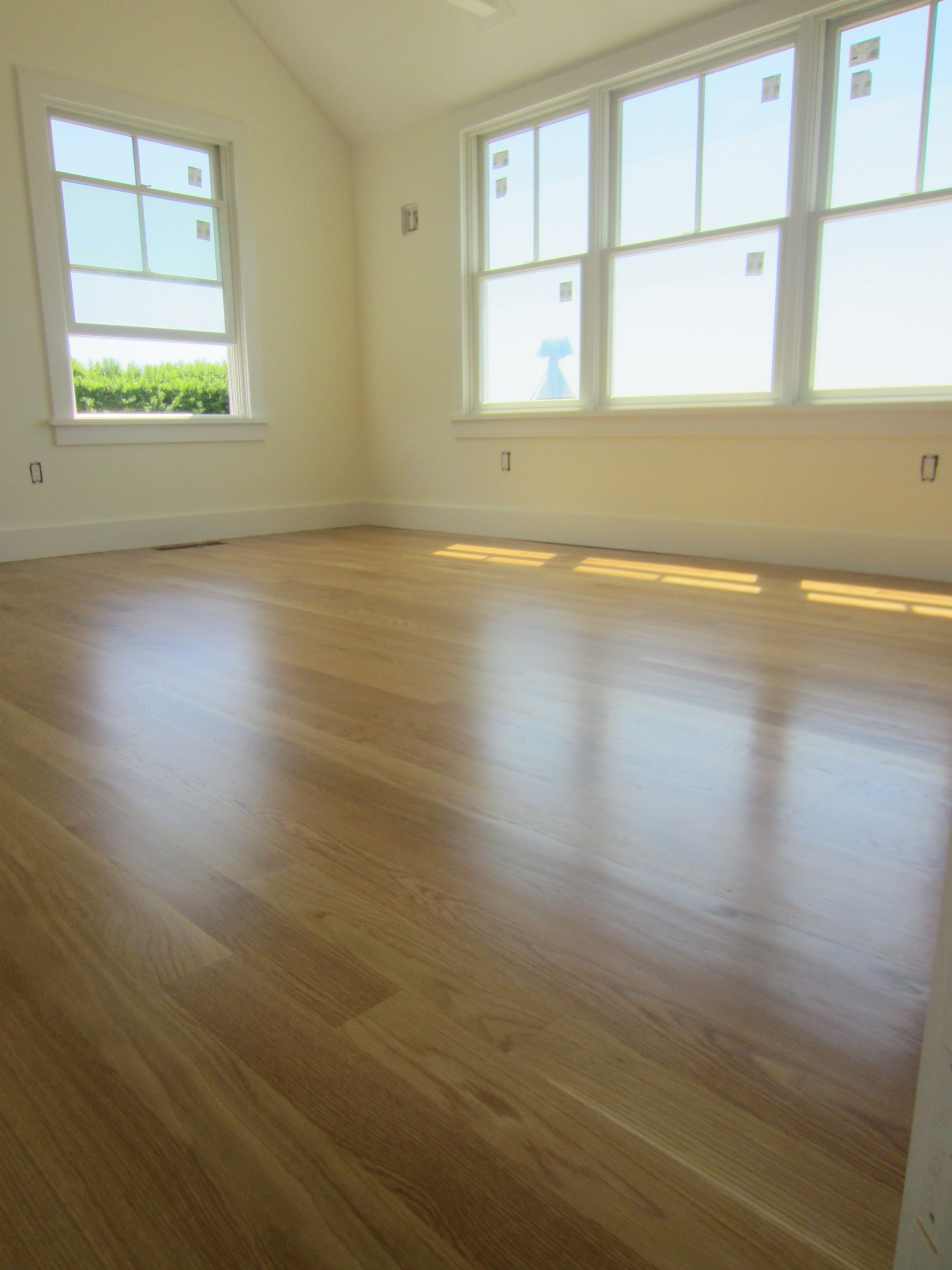 East Moriches:  White Oak floors finished with Oil polyurethane