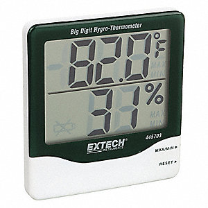 Purchase an inexpensive hygrometer to keep track of the Relative Humidity (RH) in your home!