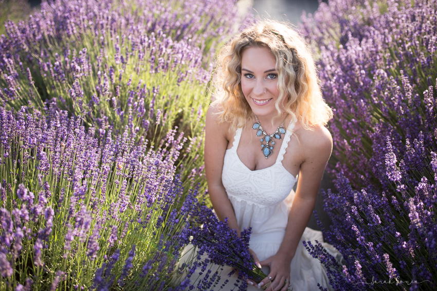 Olympia Senior Photographer Evergreen Lavender Farm Field of Purple