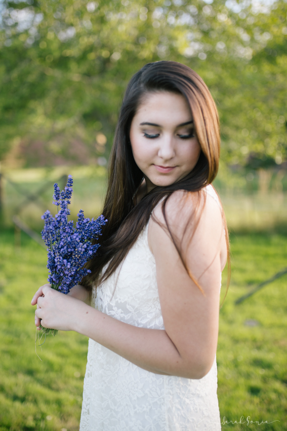 Olympia Senior Photographer Evergreen Lavender Farm Flower Bundle