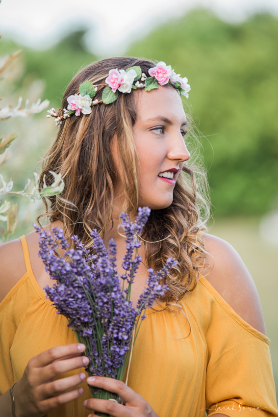 Olympia Senior Photographer Evergreen Lavender Farm Senior Model