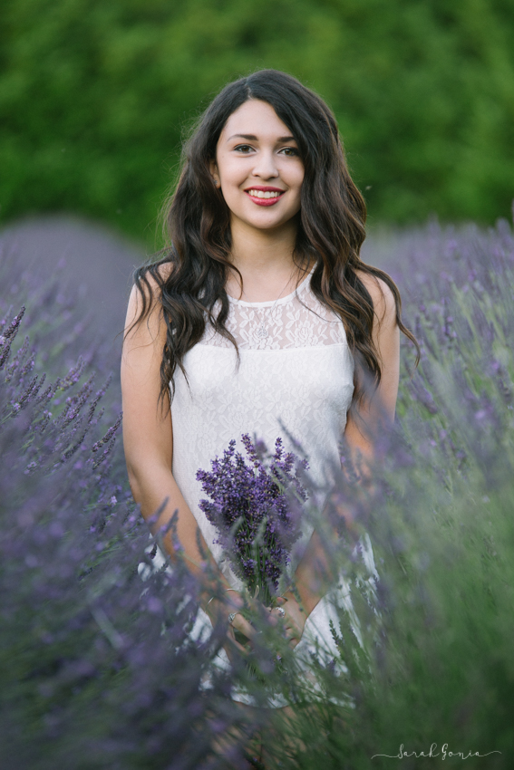 Olympia Senior Photographer Evergreen Lavender Farm Senior Standing