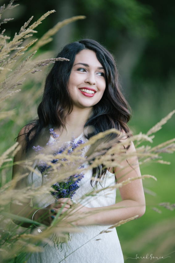 Olympia Senior Photographer Evergreen Lavender Farm Golden Hour