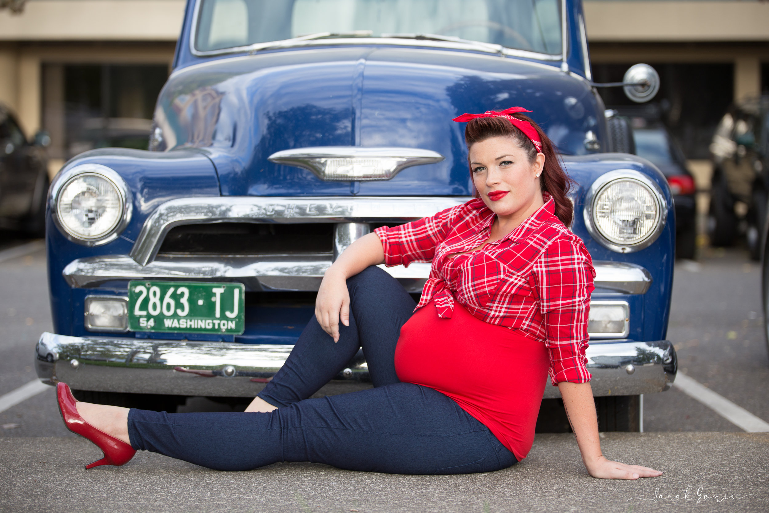 Olympia Photographer Maternity Urban Pin Up Girl