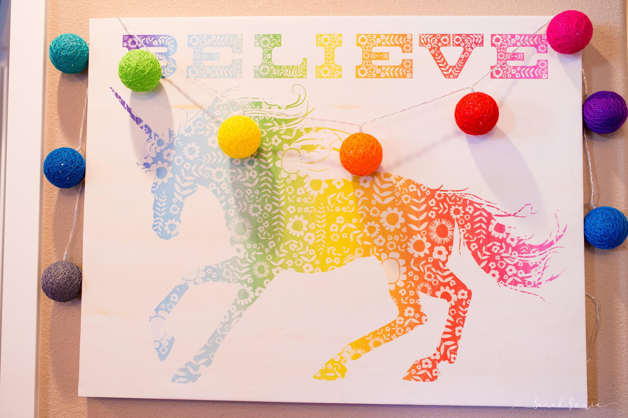 Unicorn Believe Sign Lularoe