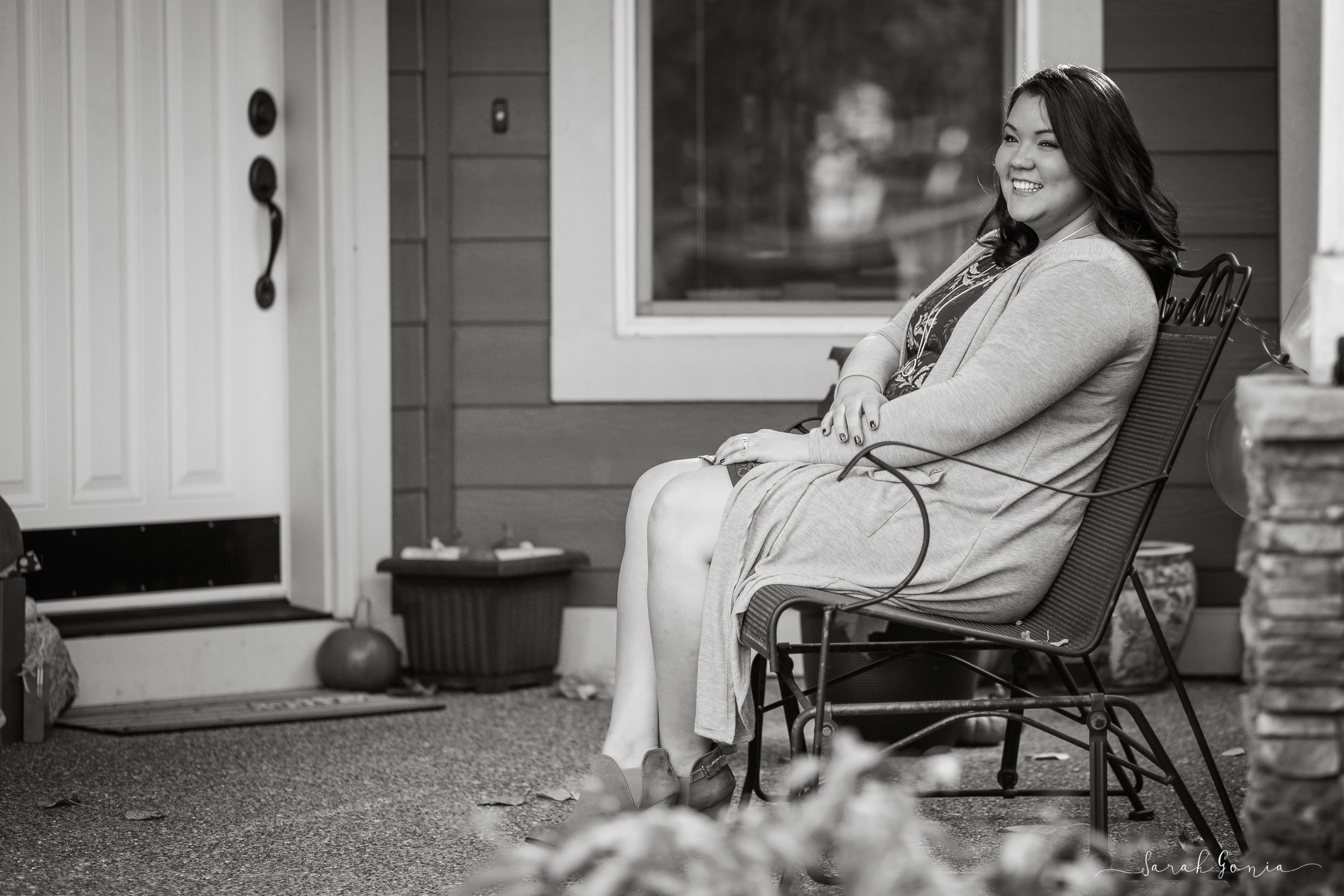 Black and white woman on bench Lularoe