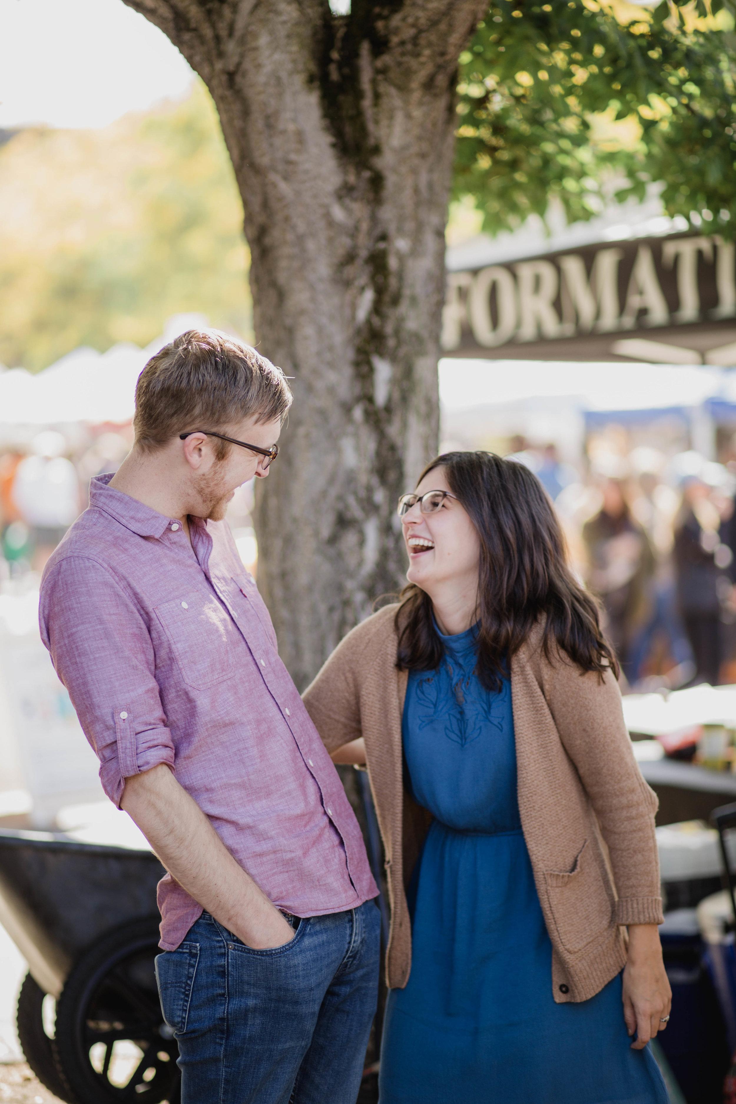 Ballard Farmers Market Engagement Session | Seattle Wedding Photographer